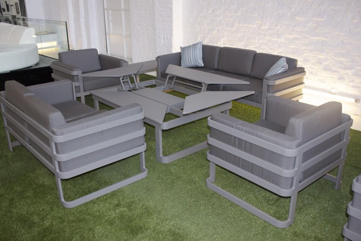Salon de jardin grand confort en r sine tress e la galerie du teck for Modele canape