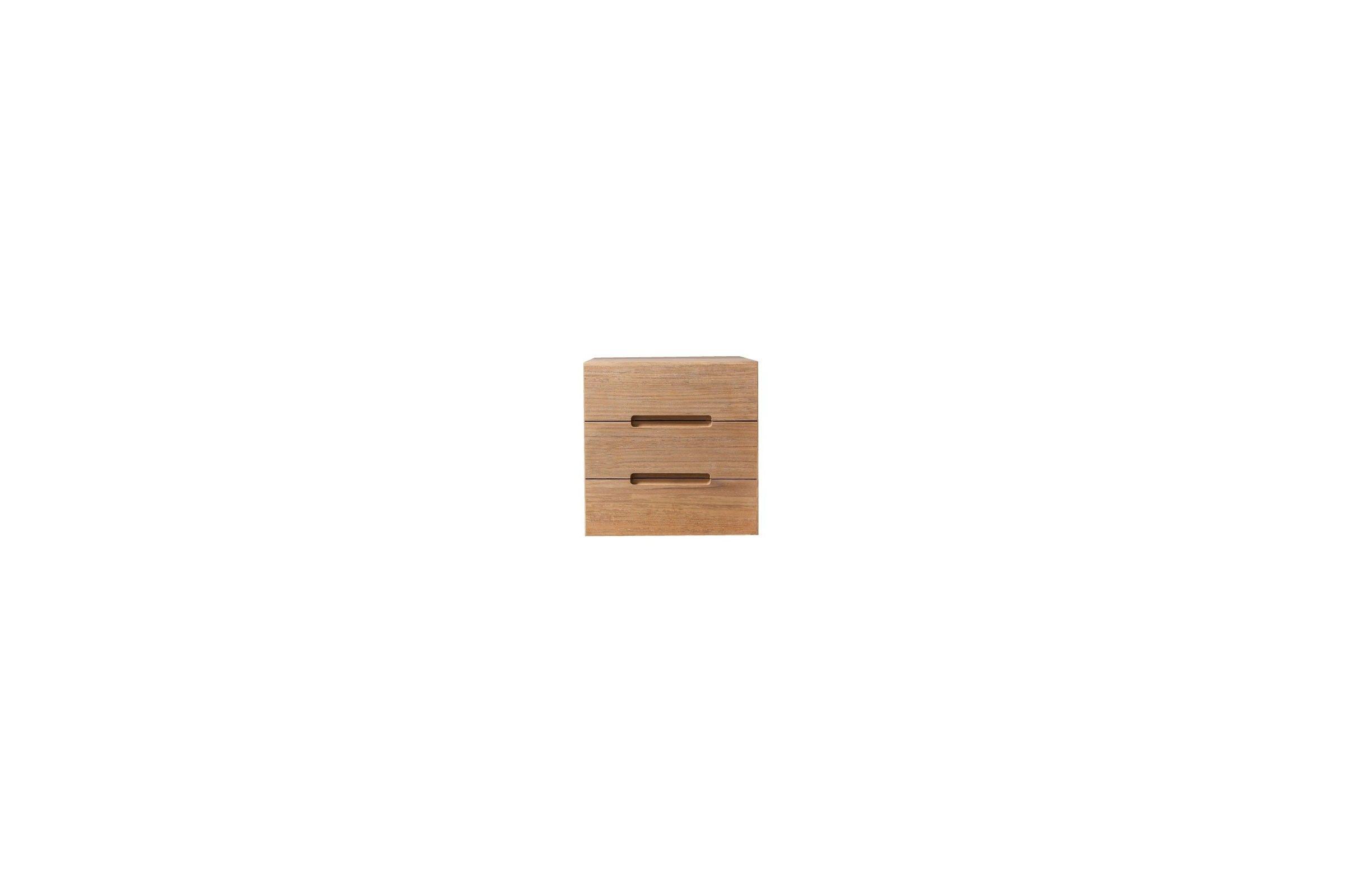Meuble de rangement 1 porte en teck massif 30 cm line for Cube de rangement salle de bain