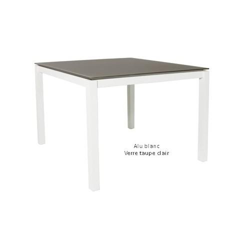 Table de jardin alu et verre des id es int ressantes pour la - Table de jardin carree aluminium ...