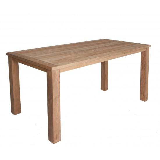 Table rectangulaire en vieux teck massif , modèle Company