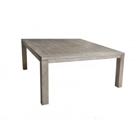 Table carrée en vieux teck massif, modèle Calgary