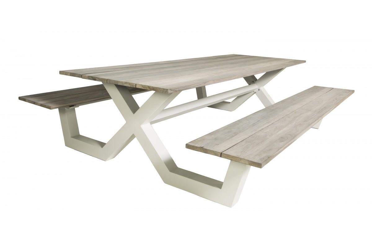 Charmant Banc En Teck Pour Jardin #4: Table-pique-nique-avec-bancs-en-teck-massif-et-pieds-en-aluminium.jpg