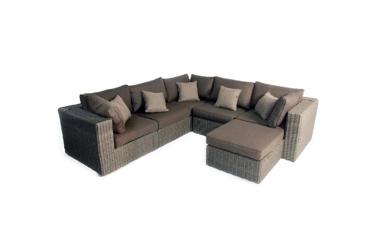 salon de jardin grand confort en r sine tress e la galerie du teck. Black Bedroom Furniture Sets. Home Design Ideas