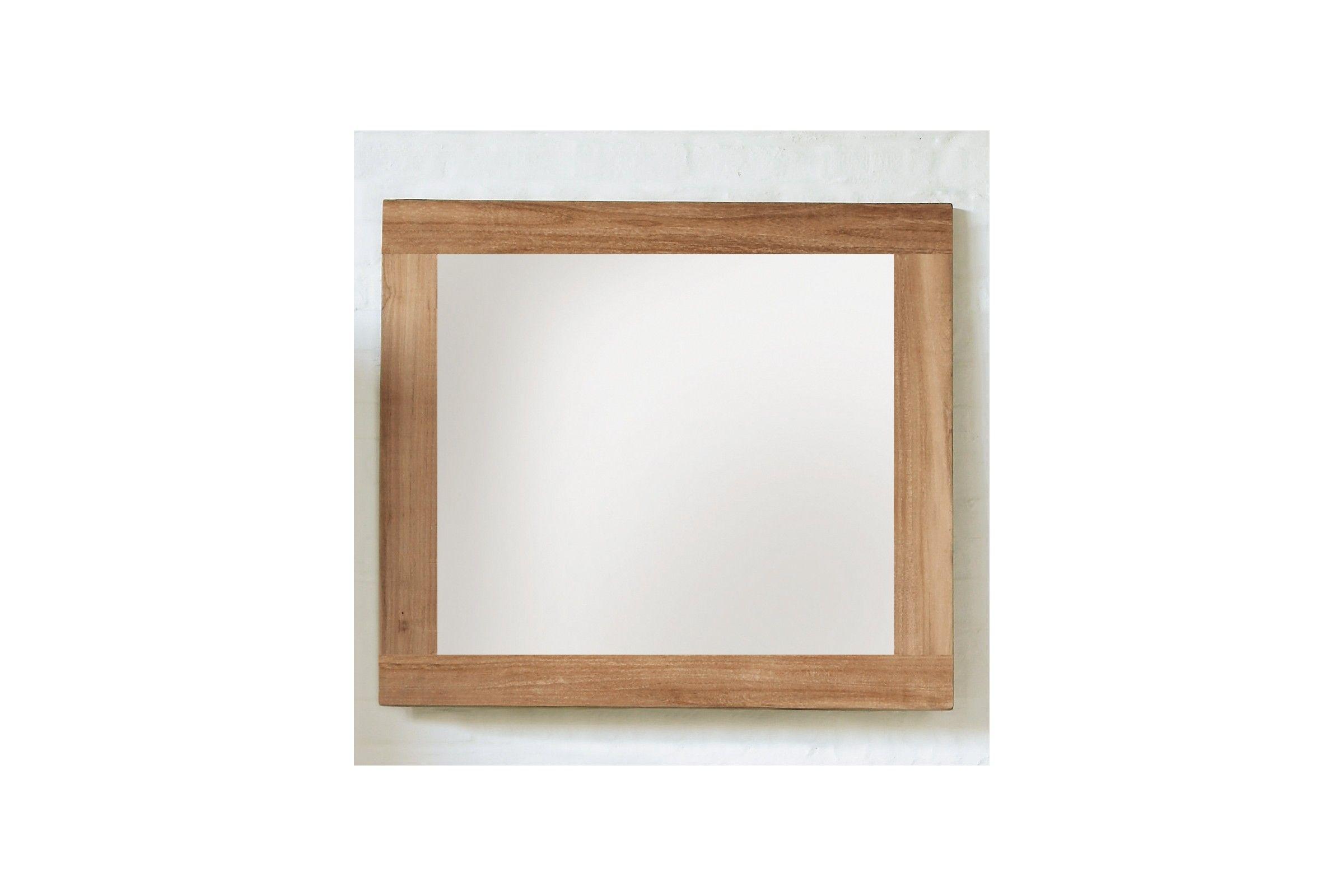 Miroir en teck massif brut by line art la galerie du teck for Miroir bois brut