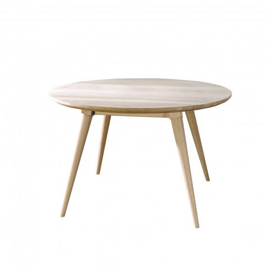 Table ronde en chêne massif