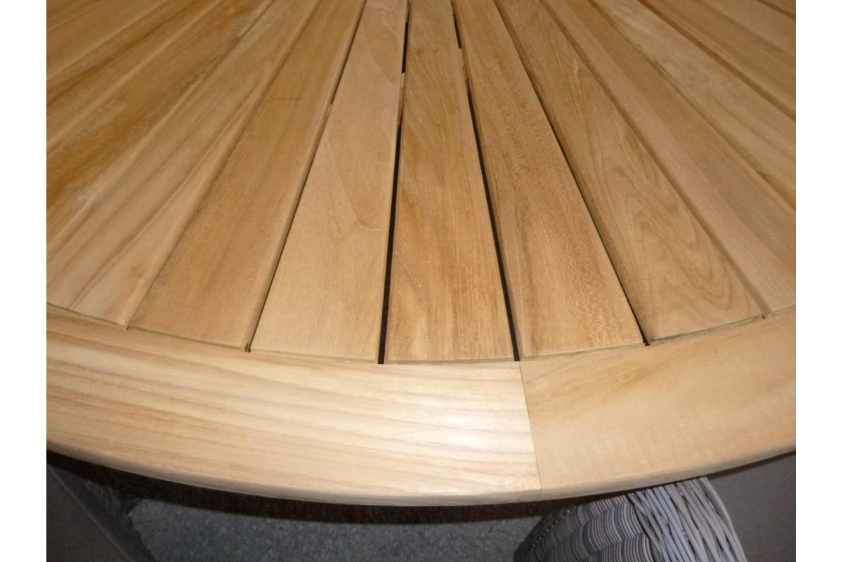 Table De Jardin Teck Ronde Leclerc Des