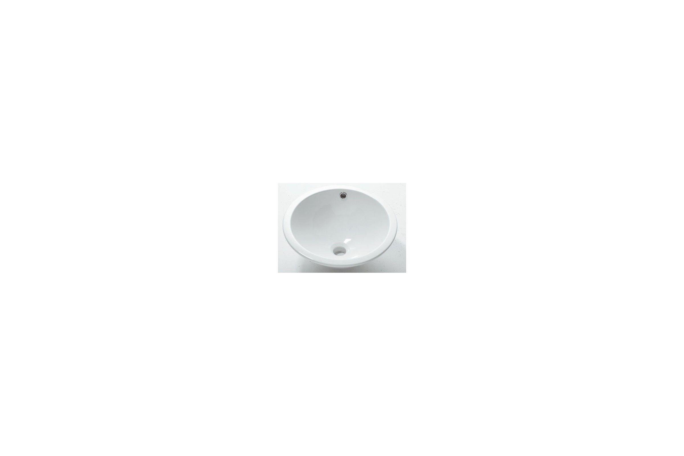 vasque encastrer ronde en c ramique 42 cm mod le soprapiano la galerie du teck. Black Bedroom Furniture Sets. Home Design Ideas