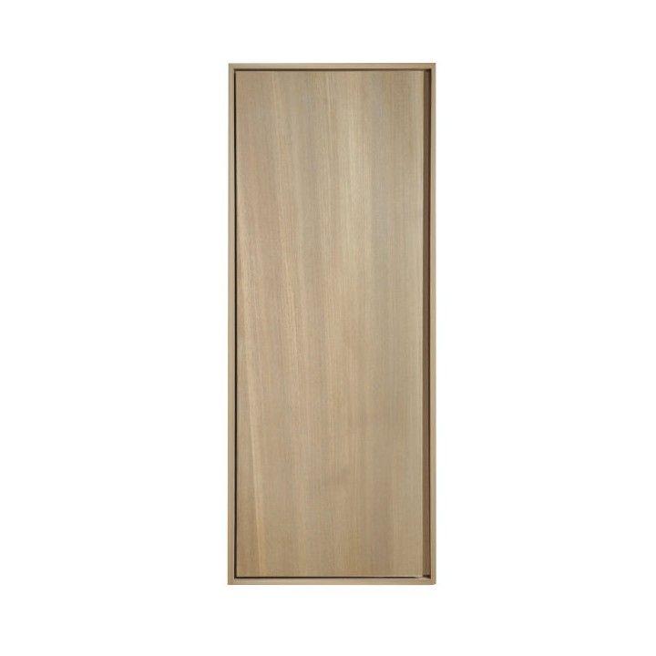 Colonne suspendue 1 portes en teck massif 100 cm
