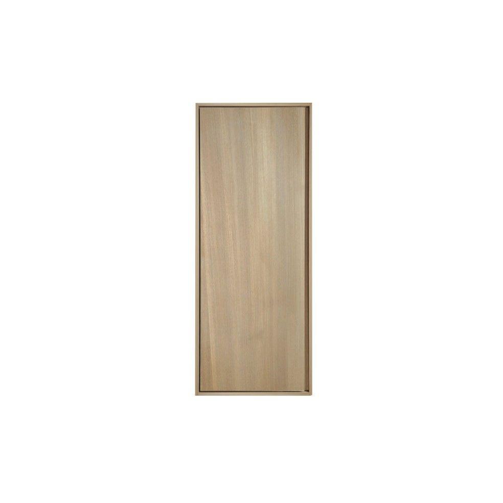 colonne suspendue 1 porte en teck massif 100 cm la On colonne salle de bain 100 cm