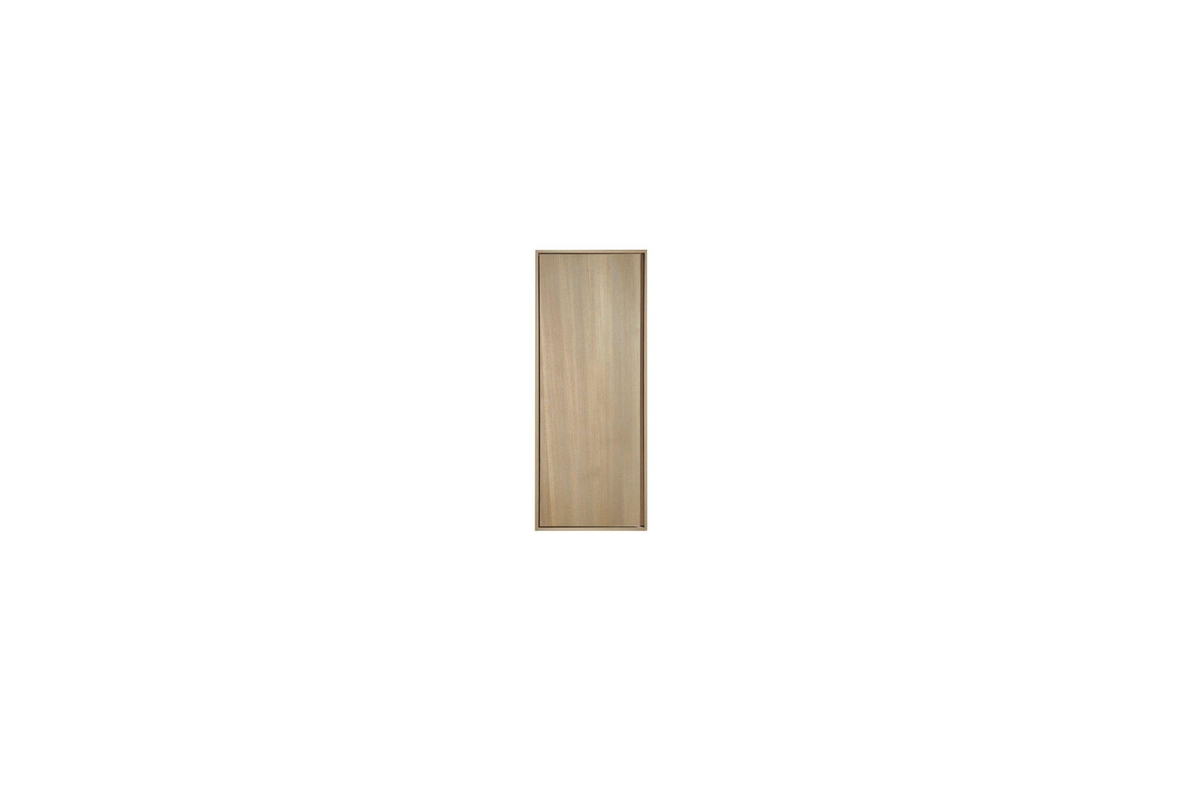 Colonne suspendue 1 porte en teck massif 100 cm la for Colonne salle de bain une porte