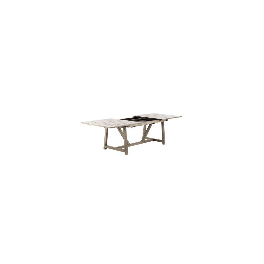 Table de jardin en teck ancien avec rallonges 200-280 cm