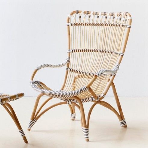 fauteuil de jardin en rotin naturel la galerie du teck. Black Bedroom Furniture Sets. Home Design Ideas