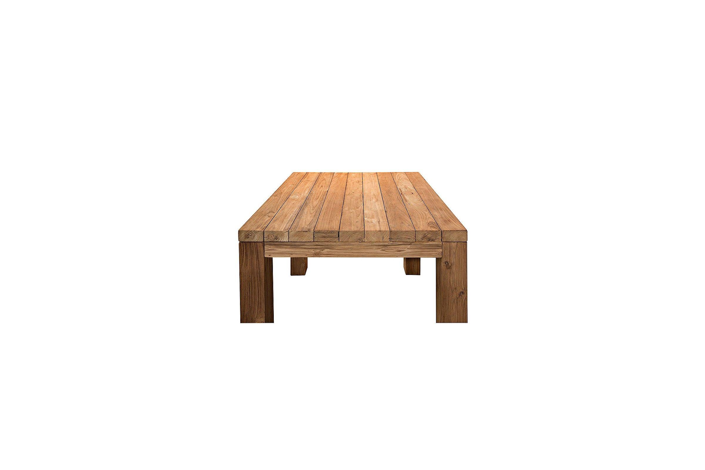 Table carr e vieux teck massif 90 x 90 cm mod le for Table exterieur teck massif