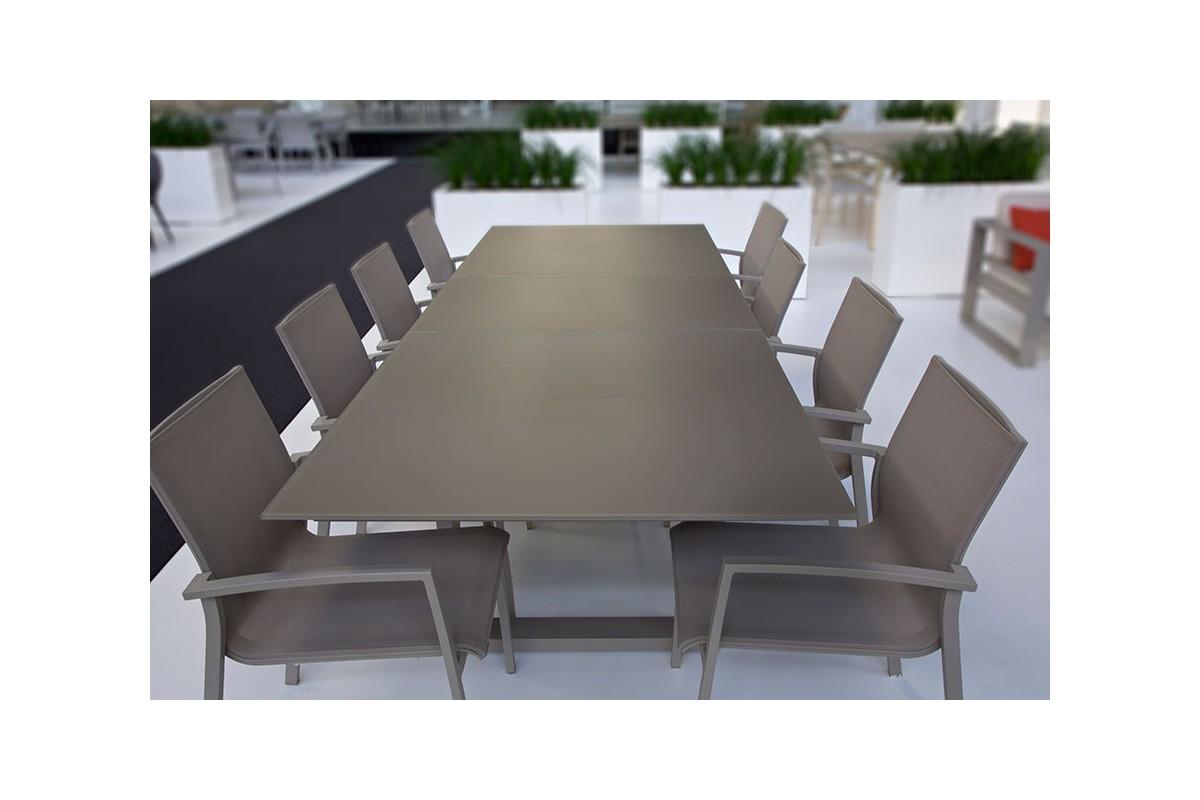Beau Table De Jardin En Aluminium Avec Rallonge #2: Table-en-verre ...