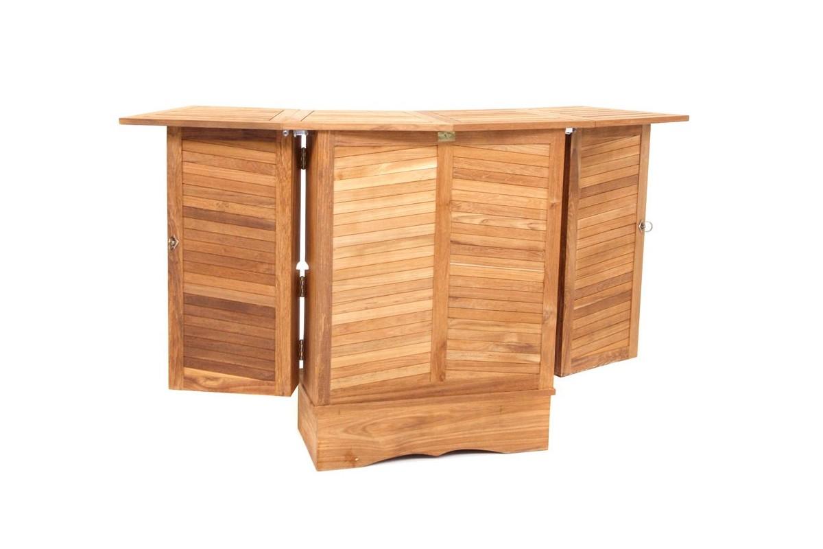bar en teck massif pour le jardin la galerie du teck. Black Bedroom Furniture Sets. Home Design Ideas