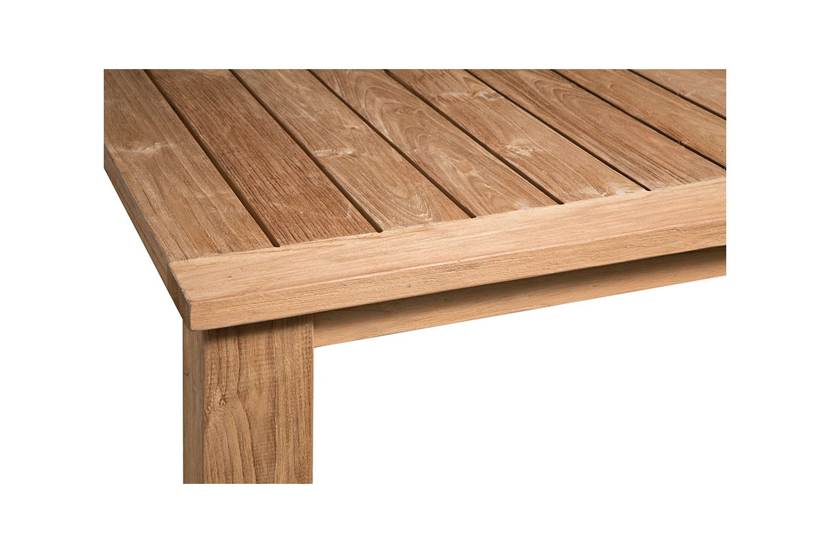 Table Rectangulaire En Vieux Teck Massif Mod Le Company