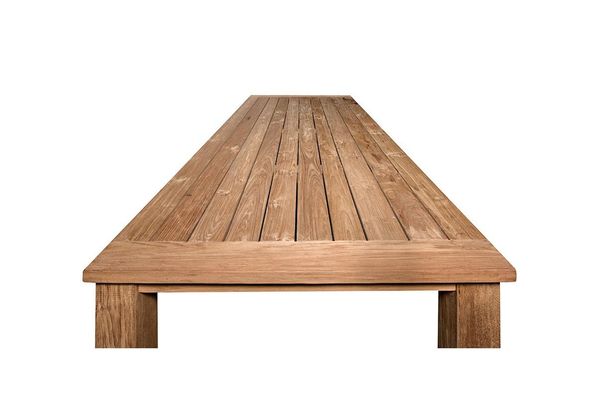 Table rectangulaire en vieux teck massif mod le company for Modele galerie exterieure