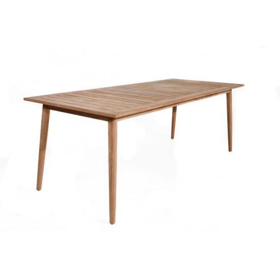 Table en teck massif ancien 220 cm, modèle Montreal