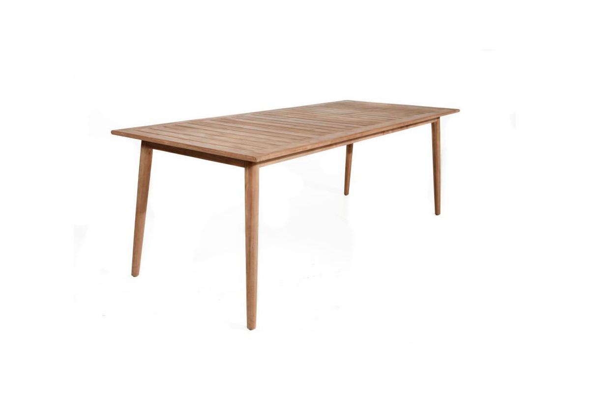 Table en teck massif ancien 220 cm montr al la galerie du teck - Table en teck massif ...