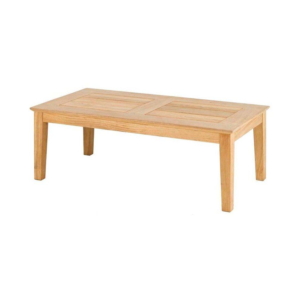 Table basse en bois pour salon de jardin 120 cm haut de gamme la galerie d - Table basse bois jardin ...