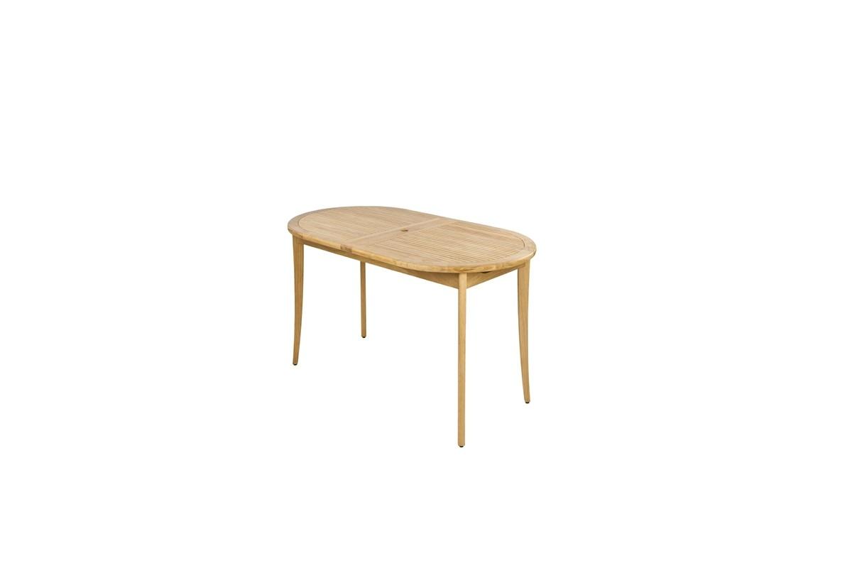Grande table de jardin en bois massif avec rallonge, 200  290 cm, haut de  -> Table Centrale Avec Bois Massif