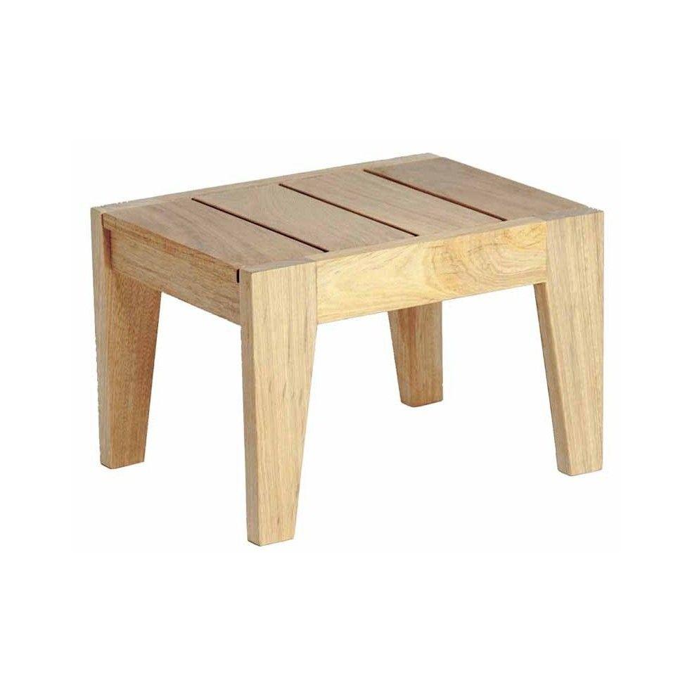 Petite table basse en bois pour bain de soleil haut de gamme la galerie du - Petit table de jardin ...