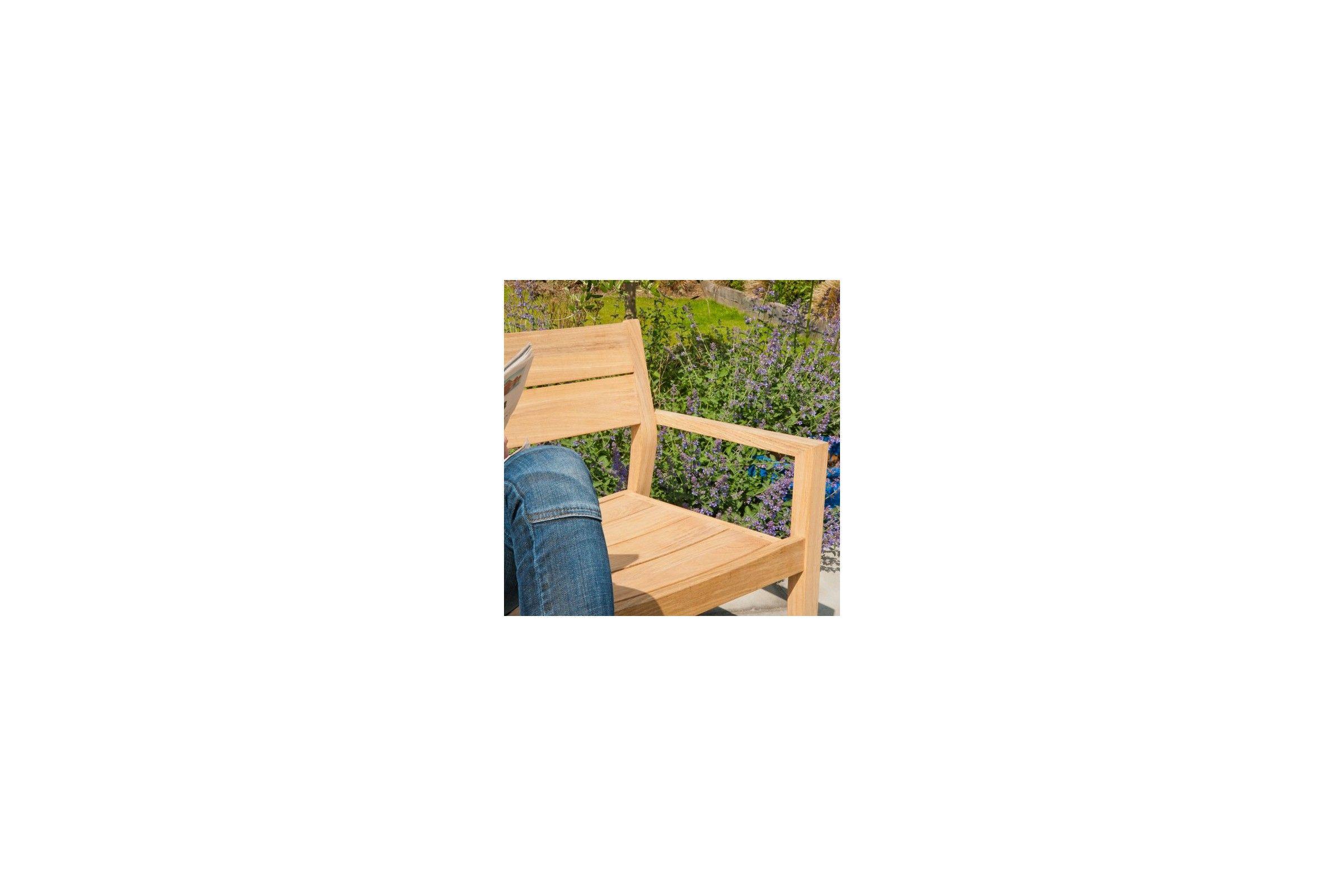 banc en bois massif 110 cm haut de gamme la galerie du teck. Black Bedroom Furniture Sets. Home Design Ideas