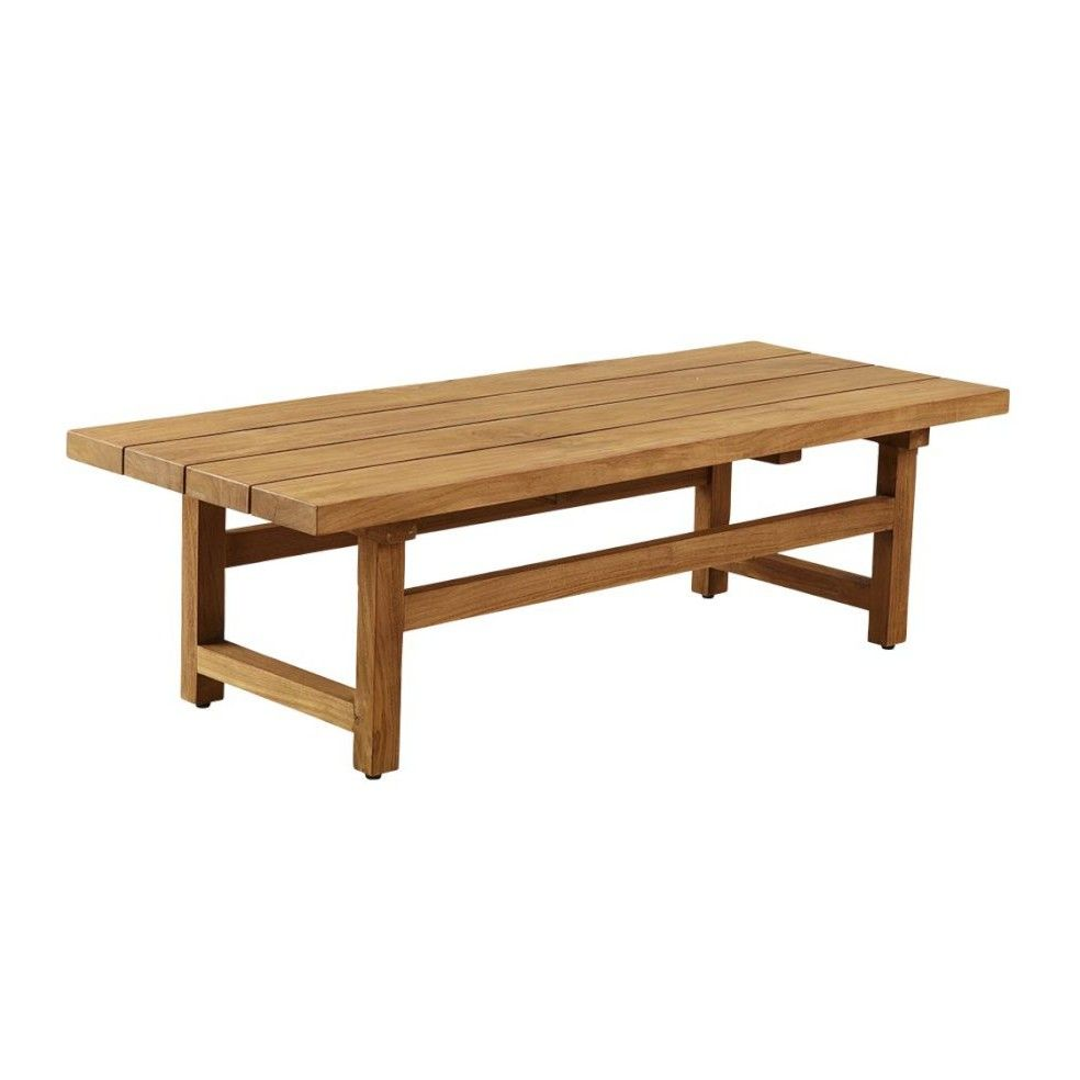 Table basse de jardin en teck massif ancien 154 cm la for Table basse teck massif