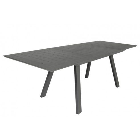 table en aluminium avec rallonge 160 240 cm parm la. Black Bedroom Furniture Sets. Home Design Ideas