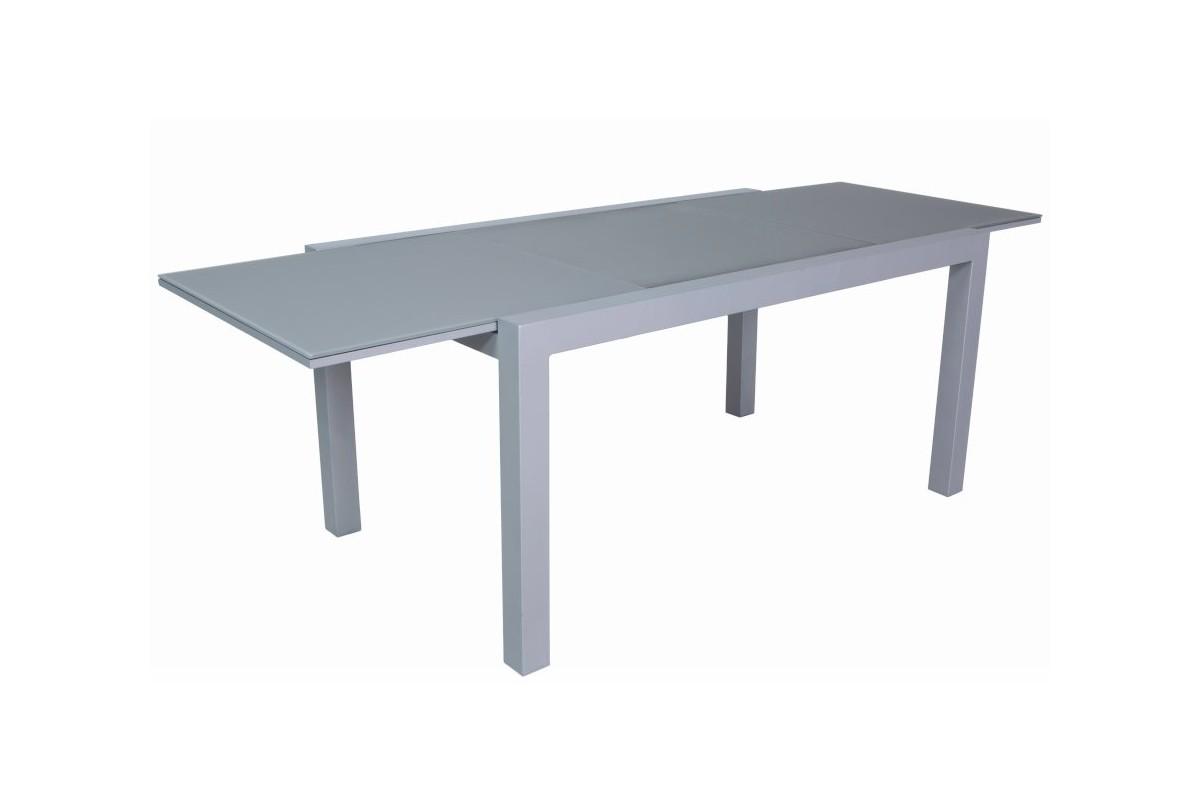 Table verre rallonge table design avec 2 rallonges macy - Table rectangulaire en verre avec rallonge ...