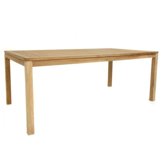 Table rectangulaire en teck massif 150 ou 200 cm, Calida