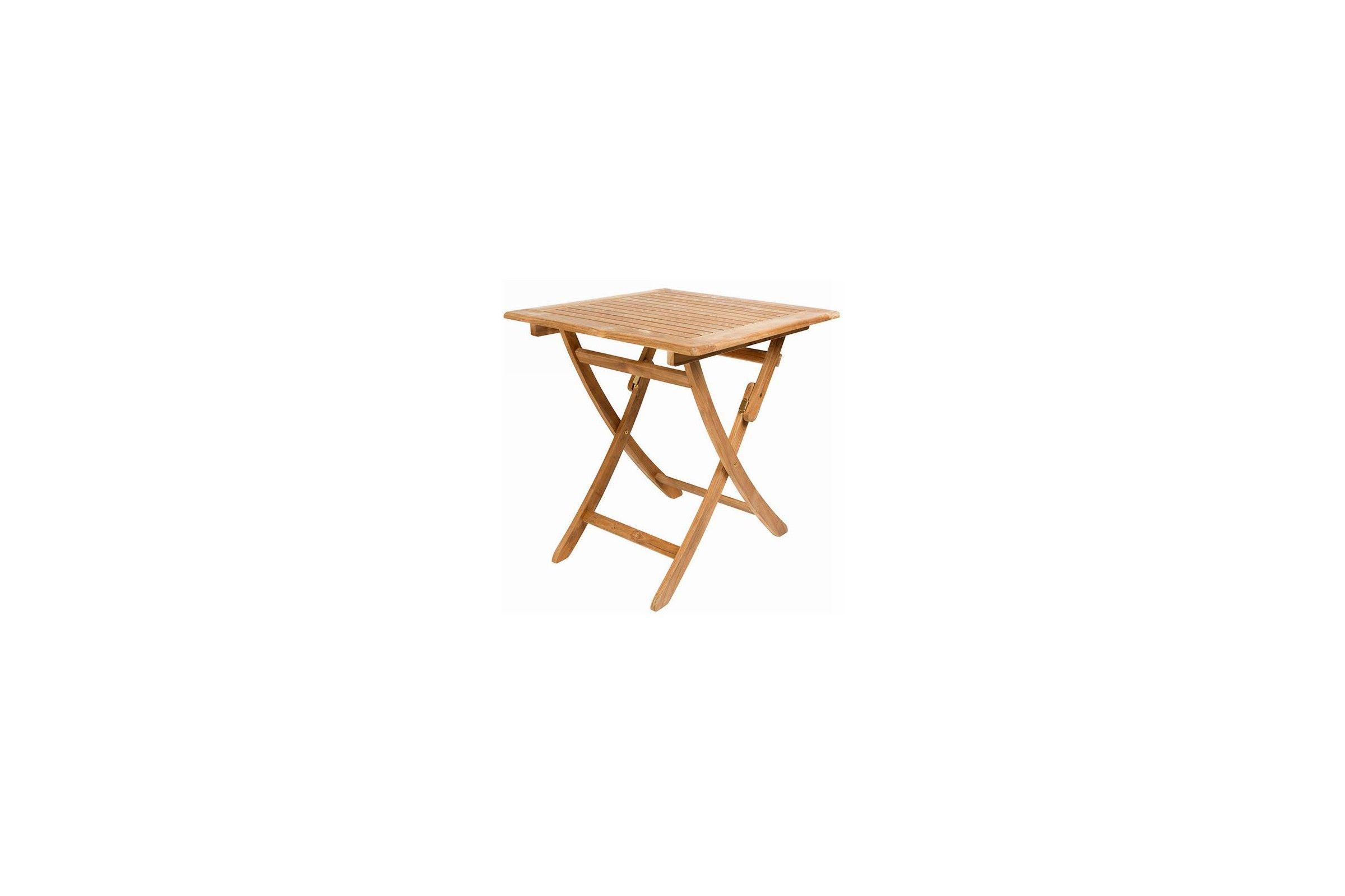 Petite table carr e 70 cm pliante en teck massif avignon for Table d appoint de jardin