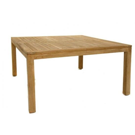 Table carrée teck massif, modèle Florida