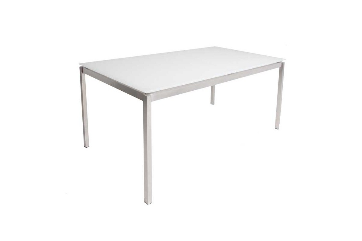Table ronde pied central inox valdiz for Table rectangulaire pied central