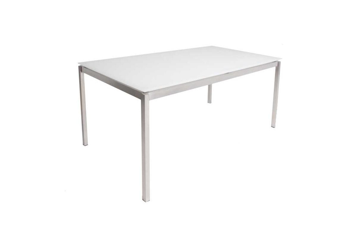 Pin 90cmmati re verre inox table de repas moderne avec un - Grand verre a pied centre de table ...