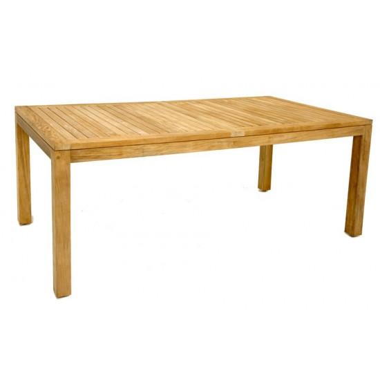 Table rectangulaire teck massif, modèle Florida