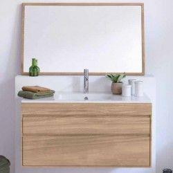 Meuble de salle de bain suspendu en teck, en vente sur le site