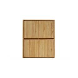 armoire en teck massif pour la chambre ou le salon la. Black Bedroom Furniture Sets. Home Design Ideas