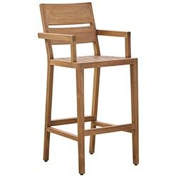 Bar en teck et chaise haute pour l 39 ext rieur et le jardin for Bar en teck exterieur