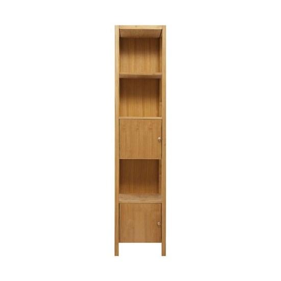 colonne 2 portes /1 étagère teck massif