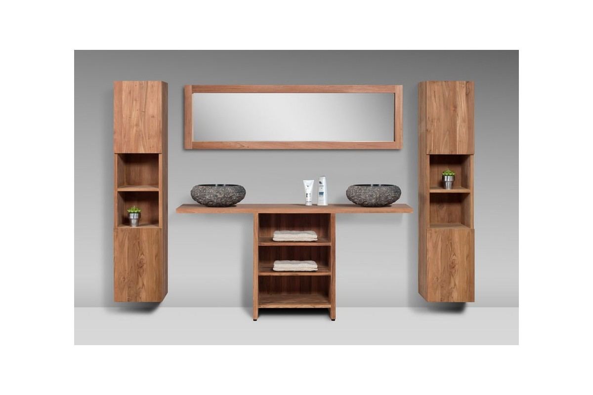 meuble de salle de bain teck massif recycl loungea la galerie du teck. Black Bedroom Furniture Sets. Home Design Ideas