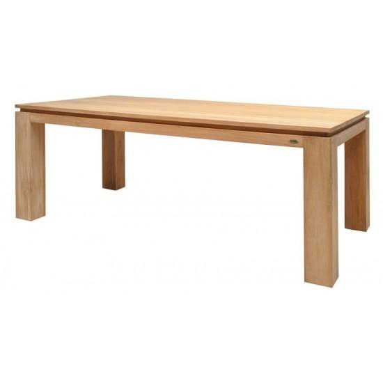 Table repas rectangulaire en teck massif, Gamme Solo