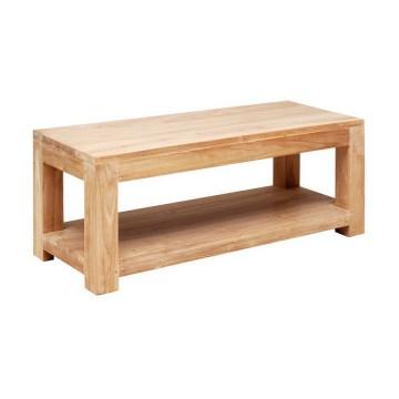 Table basse rectangulaire étroite en teck massif, Gamme Solo