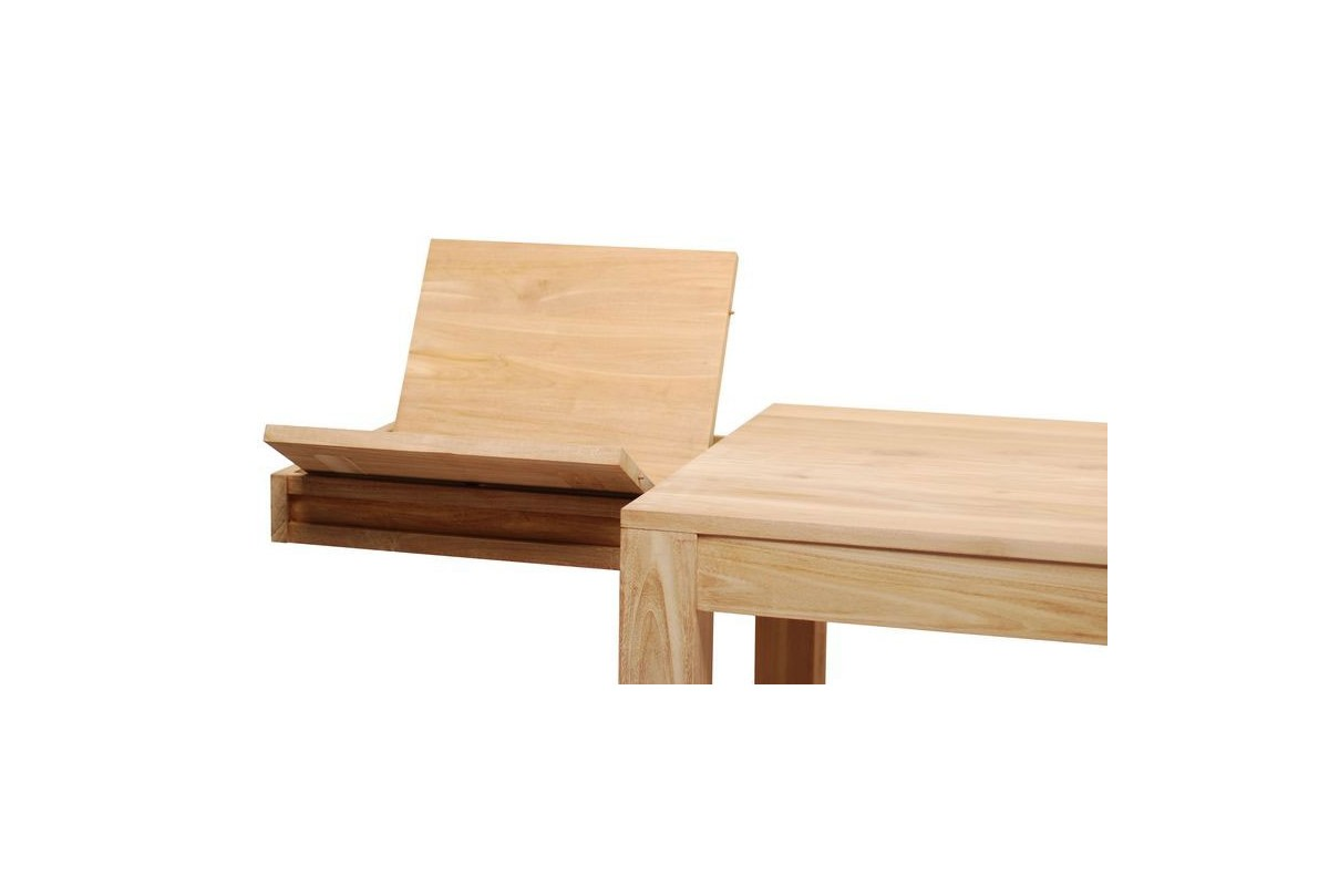 Table Repas Rectangulaire En Teck Massif Rallonges