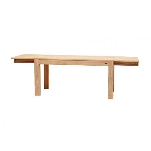 Table repas rectangulaire en teck massif rallonges for Table en teck massif