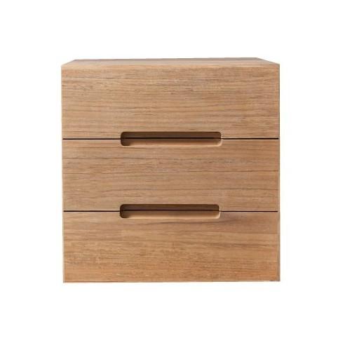 meuble de rangement sans fond 1 porte en teck massif 30 cm line art cube la galerie du teck. Black Bedroom Furniture Sets. Home Design Ideas
