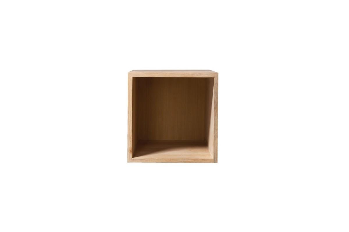 Meuble de salle de bain format cube en teck massif la galerie du teck - Element de rangement ...