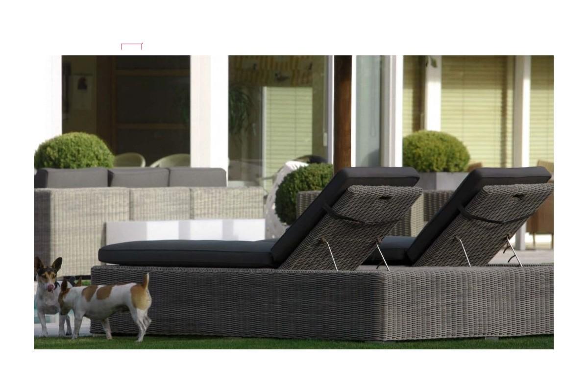 double bain de soleil avec parasol. Black Bedroom Furniture Sets. Home Design Ideas