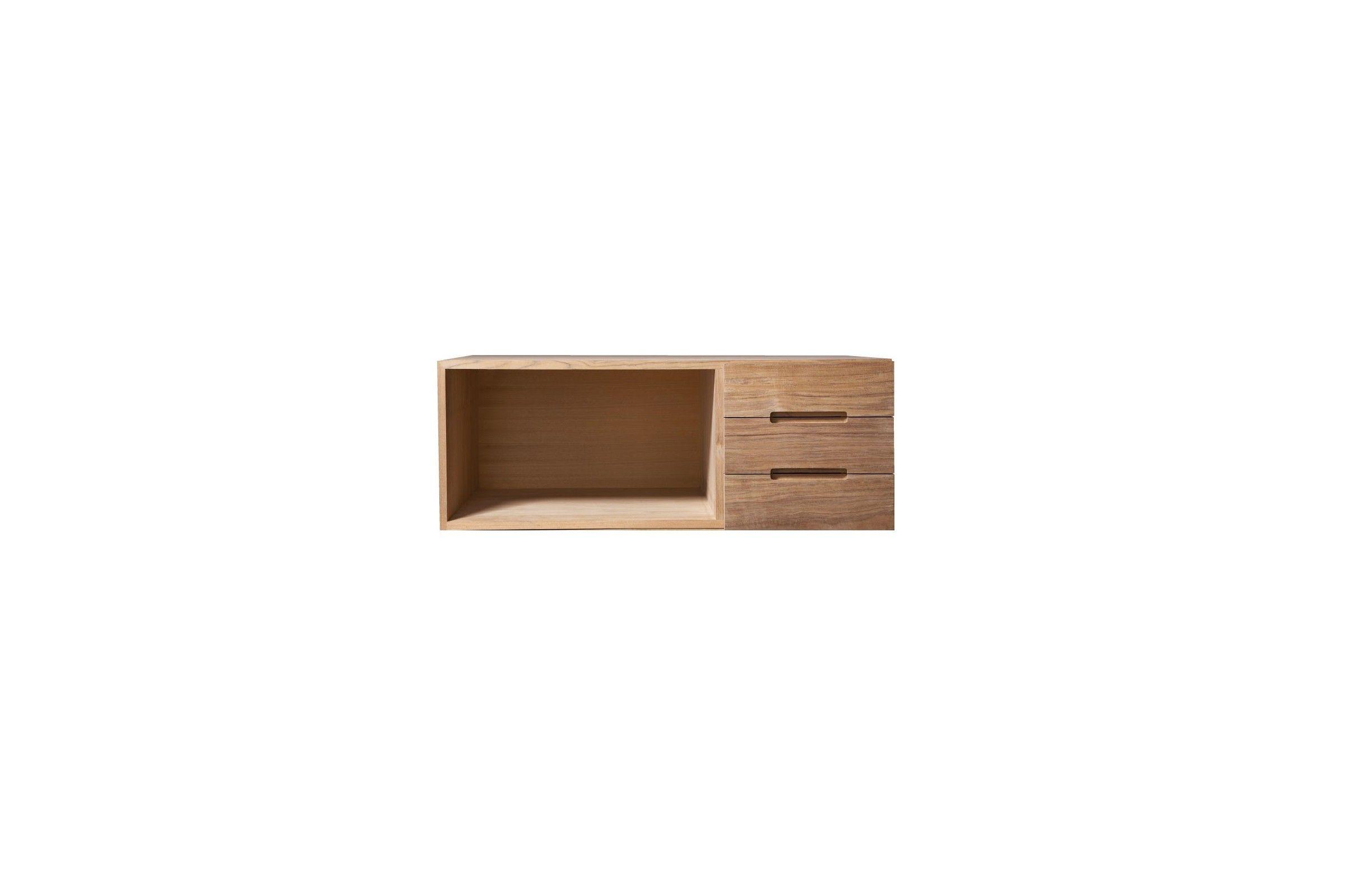 el ment de rangement teck massif avec porte droite la galerie du teck. Black Bedroom Furniture Sets. Home Design Ideas