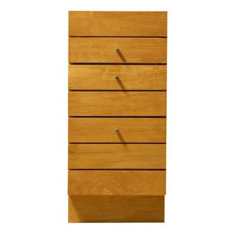 meuble de salle de bains en teck avec 3 tiroirs la galerie du teck. Black Bedroom Furniture Sets. Home Design Ideas